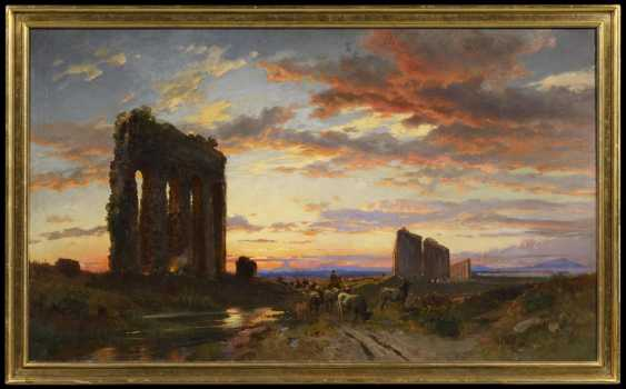 Evening at the Roman aqueducts in the Roman Campagna - photo 2