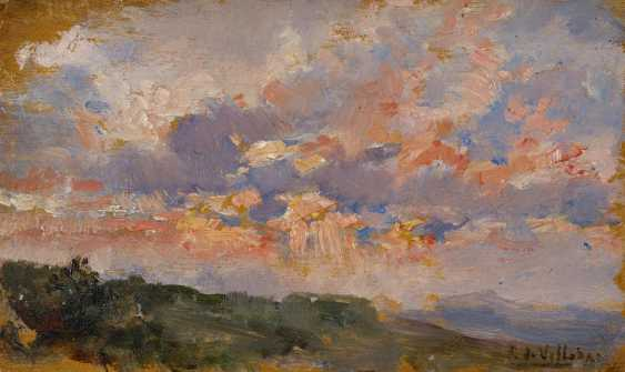 Study of clouds in front of the Spanish landscape - photo 1
