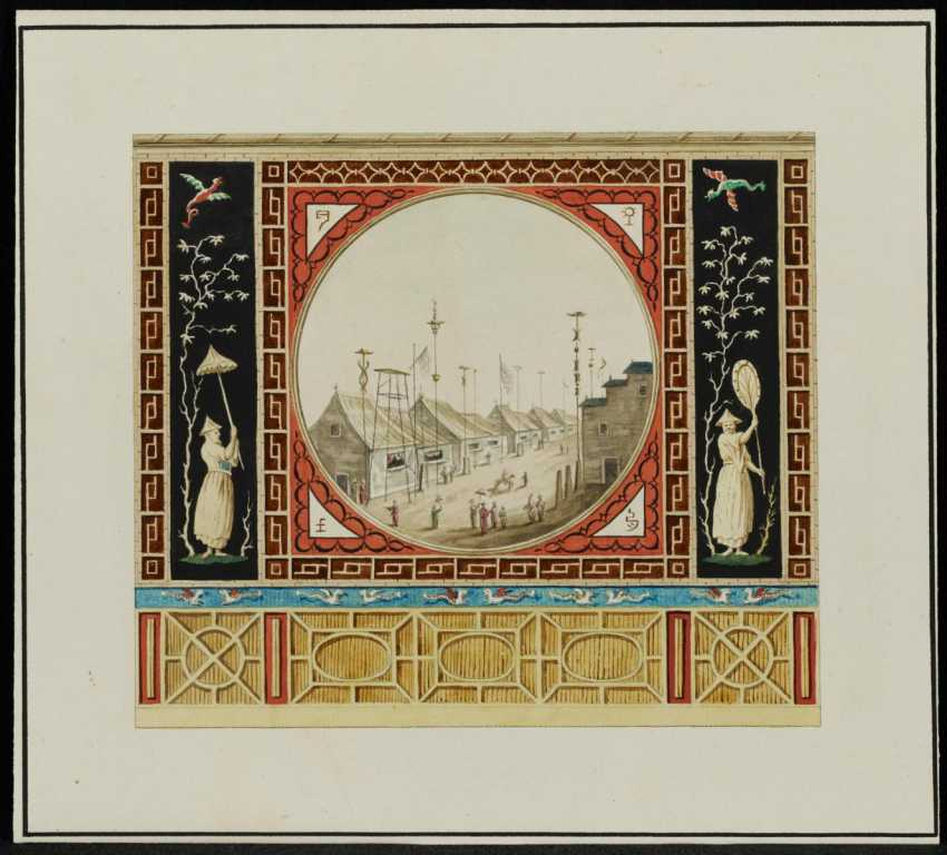 Design for a wall decoration with Chinese motifs - photo 2
