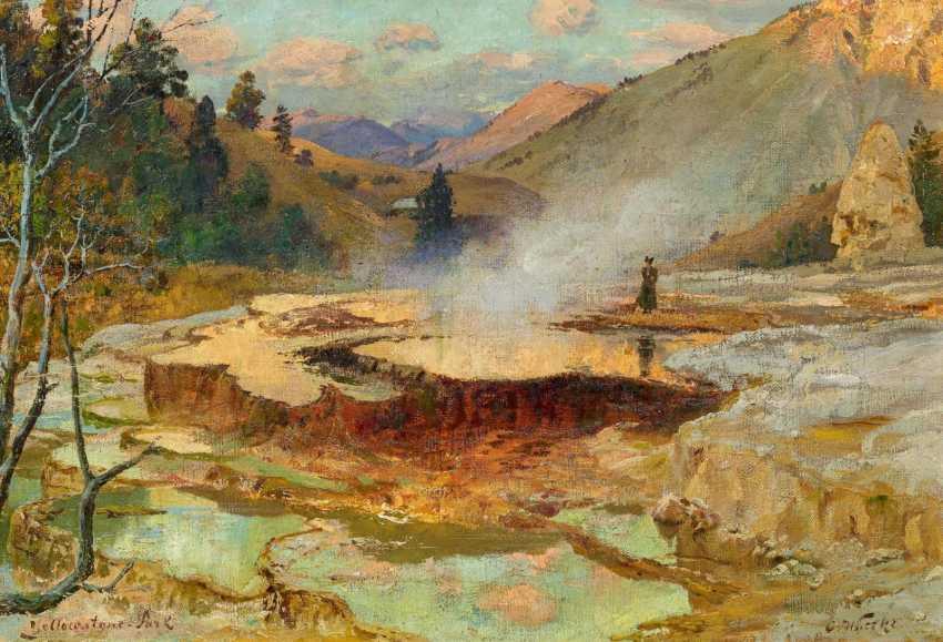 Die Mammoth Hot Springs im Yellowstone-Park - photo 1