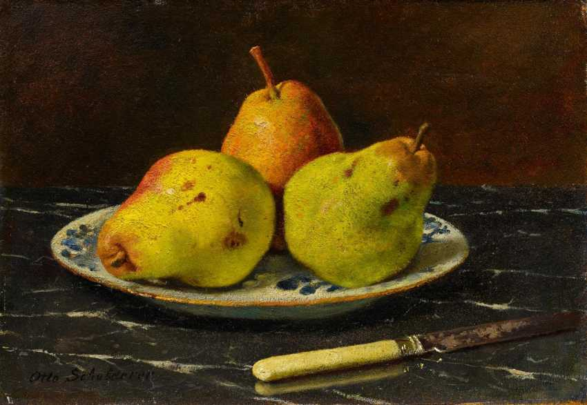 Breast-plate of life with pears on a porcelain - photo 1