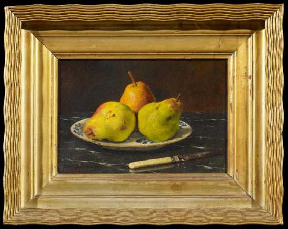 Breast-plate of life with pears on a porcelain - photo 2