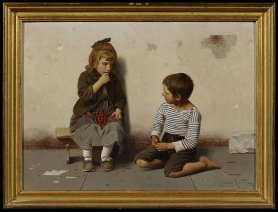 Two paintings: a.) children with melon - photo 6