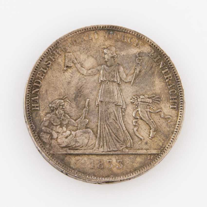 Württemberg Crown Thaler Of 1833, Freedom Of Trade, - photo 2