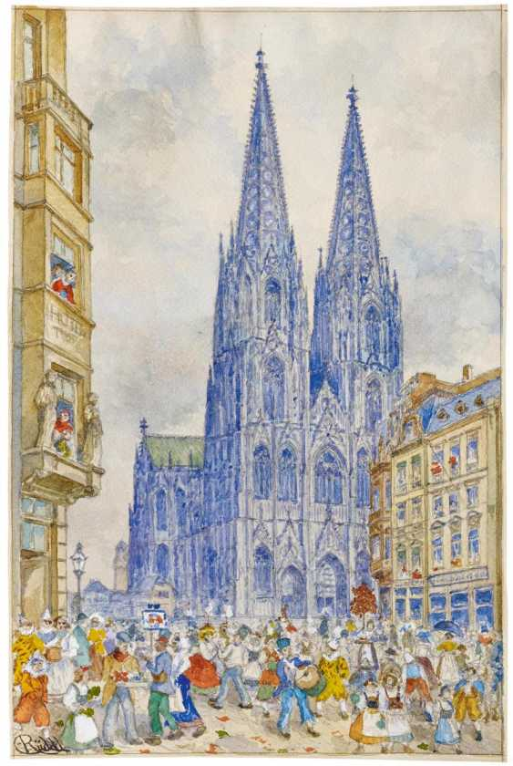 Rose Monday in front of the Cologne Cathedral - photo 1
