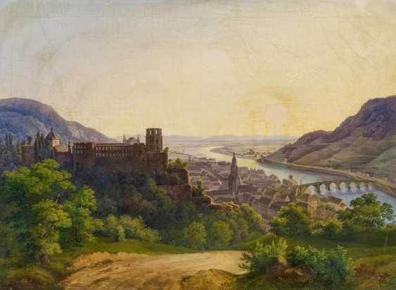 View of Heidelberg with the castle and the old town on the Neckar river - photo 1