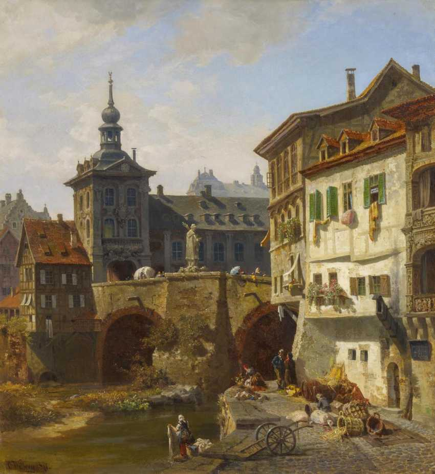 Views of the town hall in Bamberg, Germany, with a view over the Pegnitz - photo 1