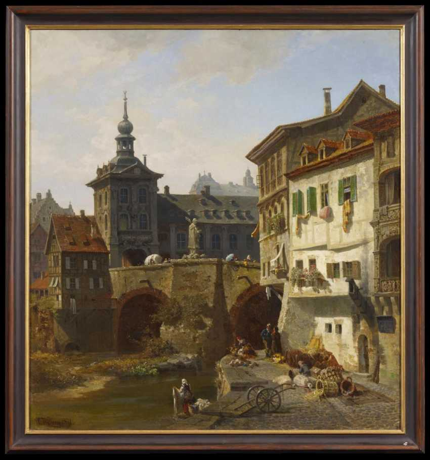 Views of the town hall in Bamberg, Germany, with a view over the Pegnitz - photo 2