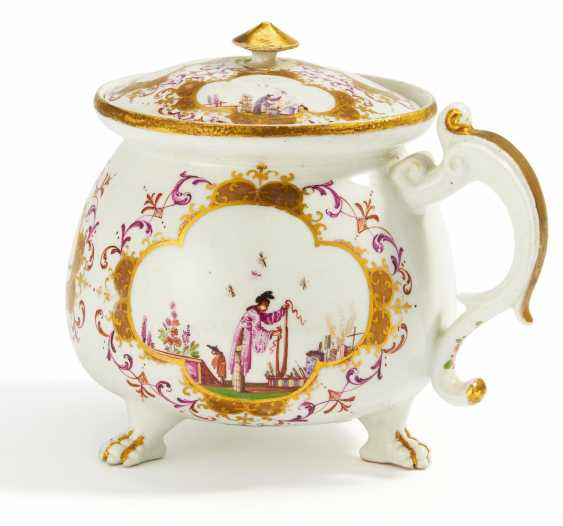 Cream pot with Chinoiserien - photo 1