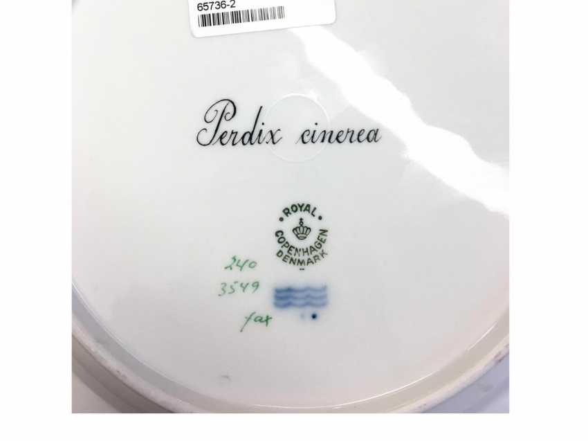 "Six ""Flora Danica"" dinner plate with animal motifs - photo 2"
