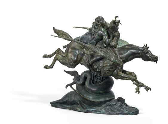 Angelica and Roger, mounted on a hippogriffe, second version - Angelica und Ruggiero auf dem Hippogryph, zweite Version - photo 1