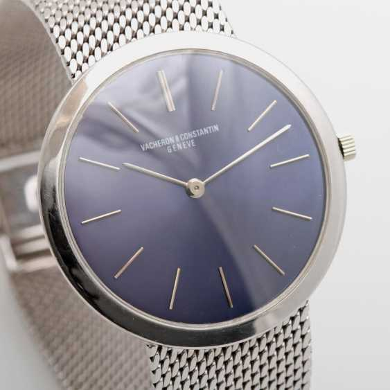 VACHERON & CONSTANTIN men's watch, 1970s, ultra-flat,white gold 18K, D: approx. 32mm (excluding crown!). - photo 3