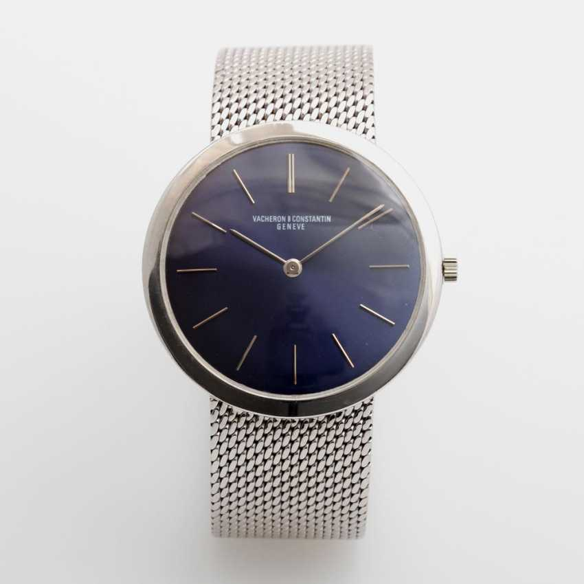 VACHERON & CONSTANTIN men's watch, 1970s, ultra-flat,white gold 18K, D: approx. 32mm (excluding crown!). - photo 1