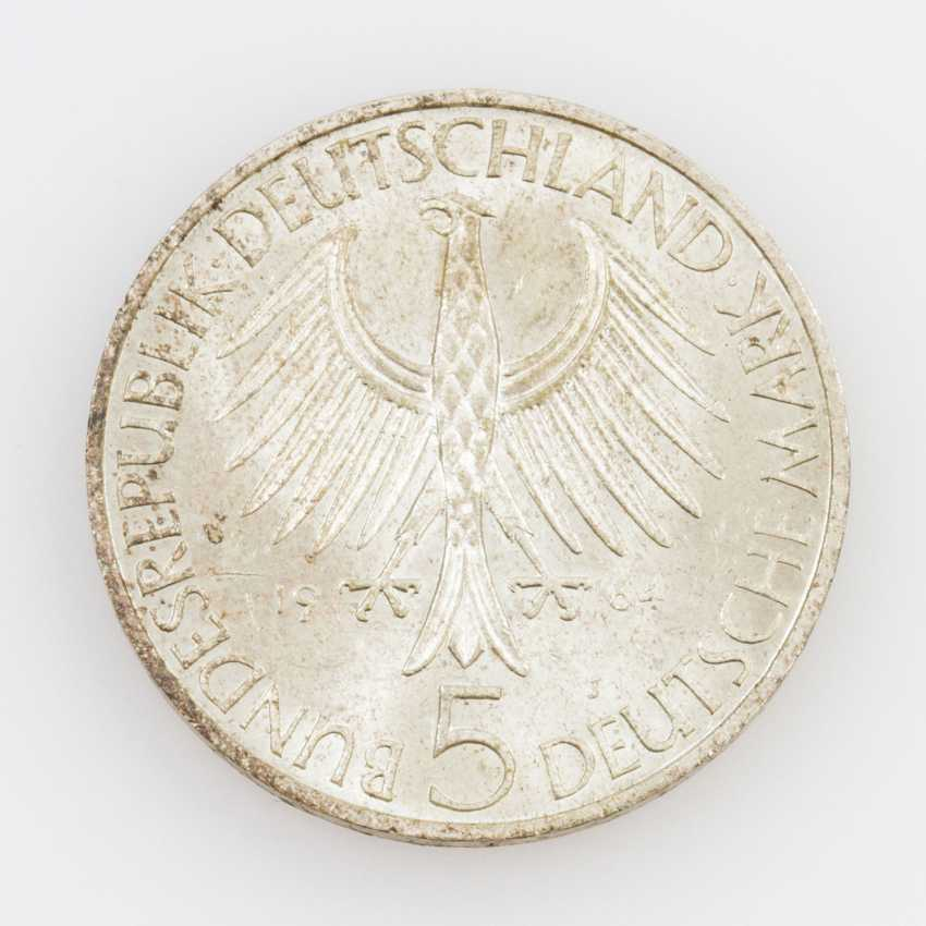 BRD 5 Deutsche Mark 1964 J, - photo 2