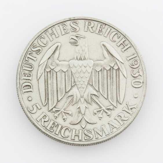 Weimar Republic - 5 Reichsmark 1930 A, world flight of the Zeppelin, - photo 2
