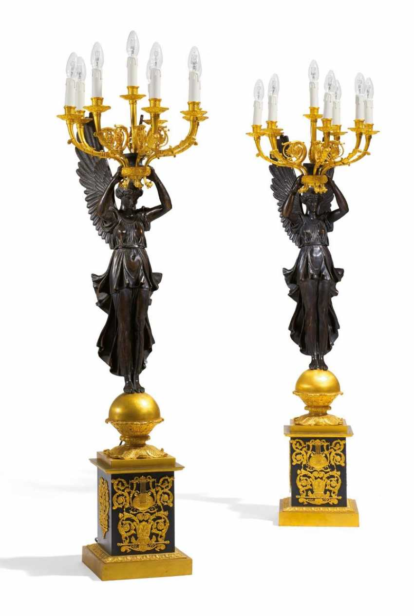 Pair of large candelabra with Viktorien Empire Style - photo 1