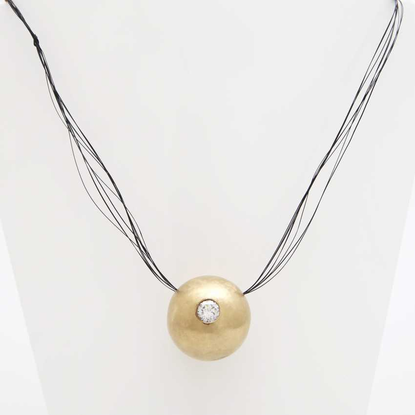 Pendant in ball shape filled with a Diam.-Brilliant - photo 1