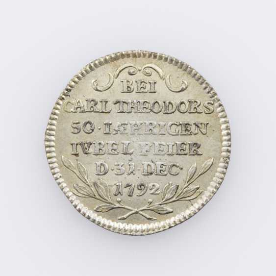 Mannheim - unsigned silver Restrike of a Ducat 1792, - photo 2