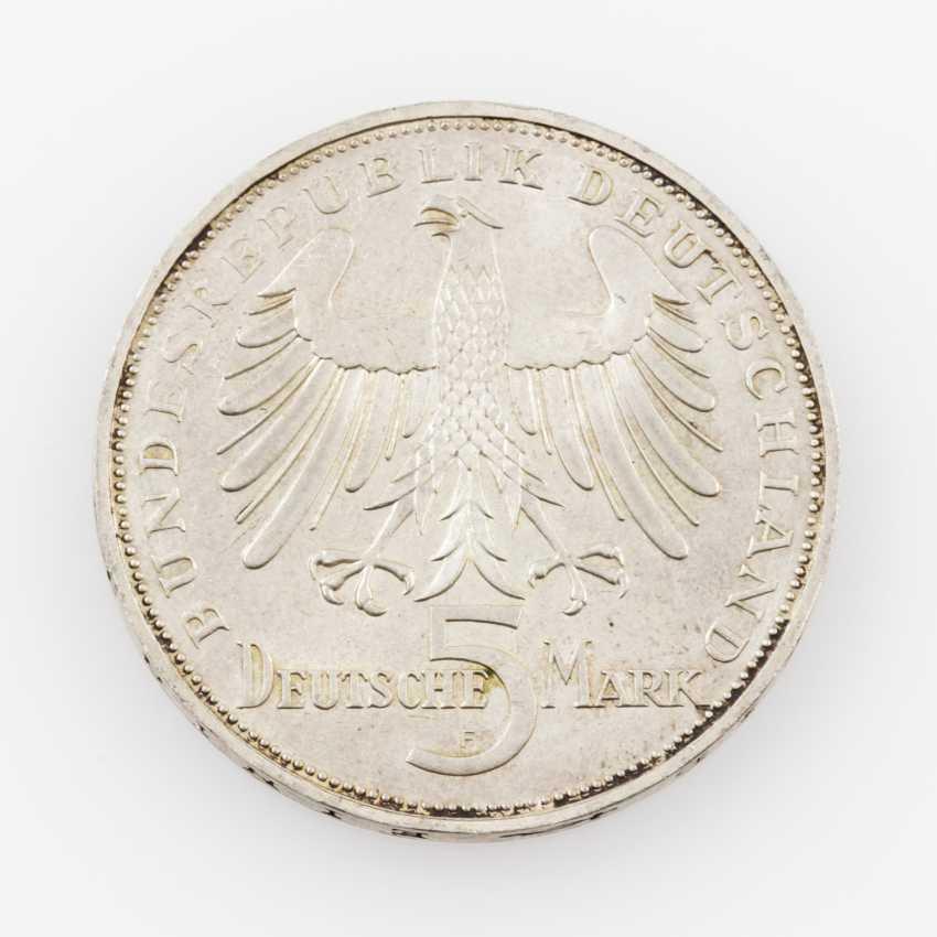 BRD 5 Deutsche Mark 1955 F, Schiller, - photo 2