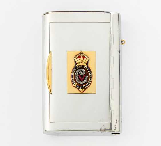 Cigarette case with the order of the garter and monogram of George V - photo 1