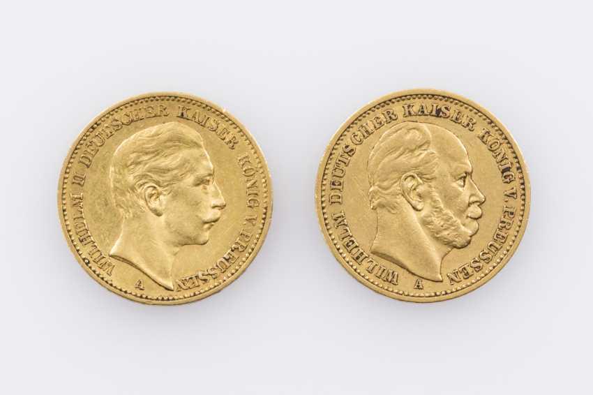 Kaiserreich / GOLD - 20 Mark 1884/A + 20 Mark 1897/A, - photo 1
