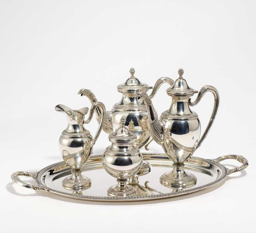 Four piece coffee and tea service with tray - photo 1