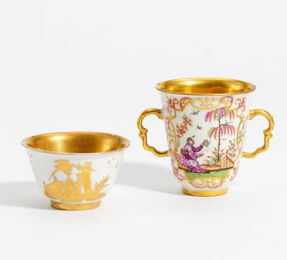 Double handle Cup and coupling with Chinoiserien - photo 1