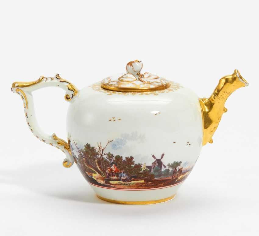 Teapot with landscape panorama - photo 1