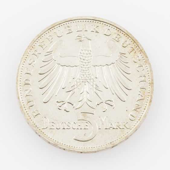 BRD 5 Deutsche Mark 1955 F, - photo 2