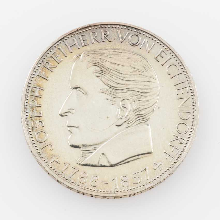 BRD 5 Deutsche Mark 1957 J, - photo 1
