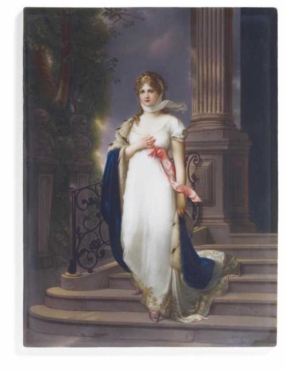 Porcelain painting Queen Louise of Prussia - photo 1