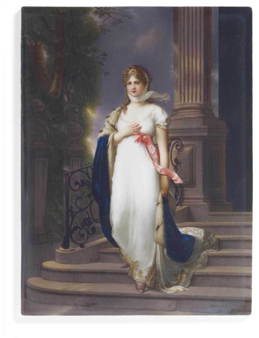 Porcelain painting Queen Louise of Prussia - photo 2
