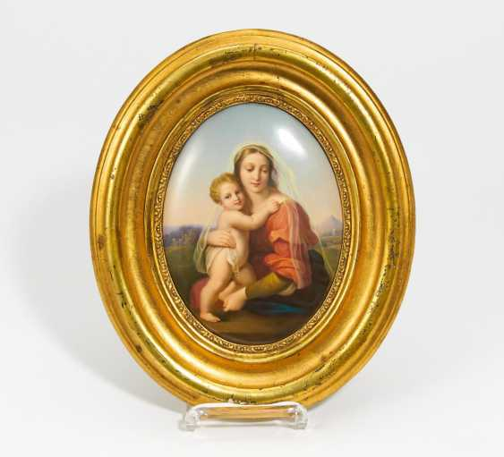 """Porcelain painting """"Mary with child"""" - photo 1"""