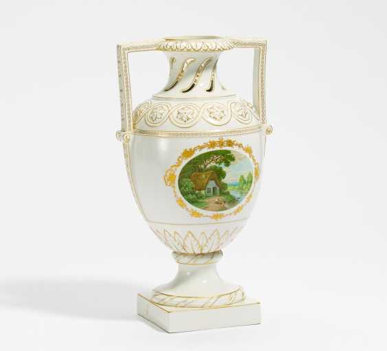 Vase with a view of an idyllic river landscape - photo 1