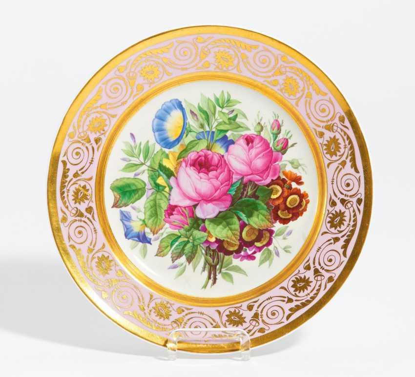 Biedermeier ornamental with flowers bouquet - photo 1