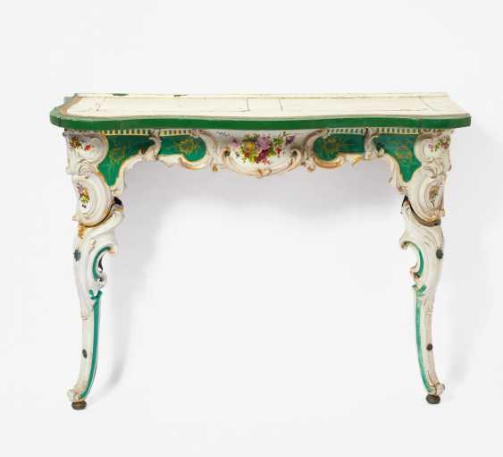 Pair Of Porcelain Consoles Style Rococo - photo 3