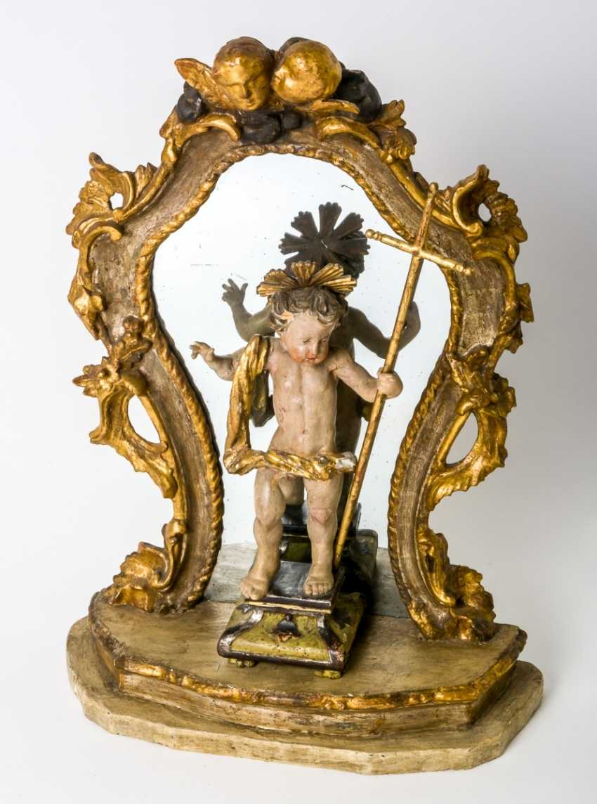 Charming figure of the infant Jesus in front of a mirror - photo 1