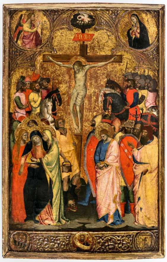 Important panel painting of the crucifixion of Jesus from the collection of Konrad Adenauer - photo 1