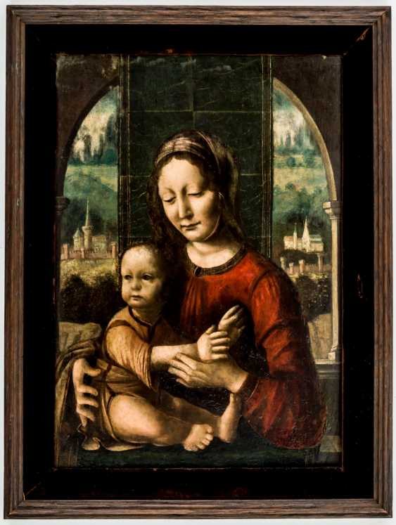 Rare painting of the Madonna with child Jesus - photo 2