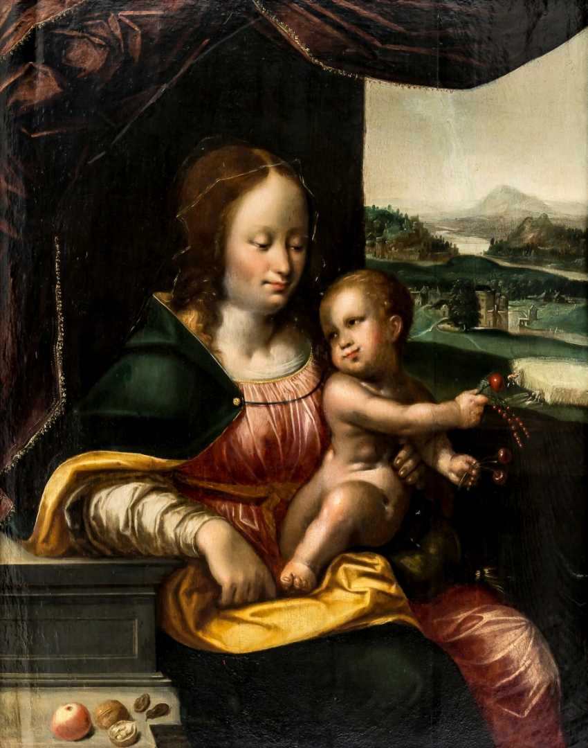 Important painting of the Madonna with the cherries - photo 1