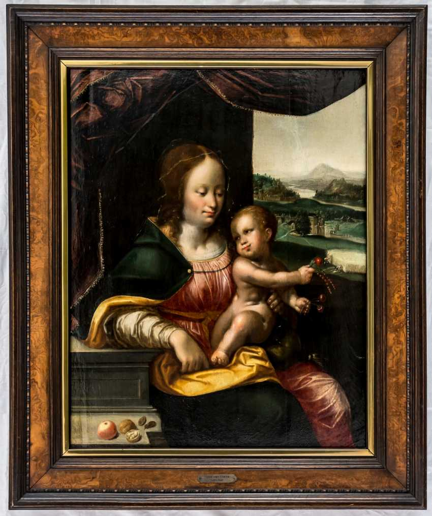 Important painting of the Madonna with the cherries - photo 2