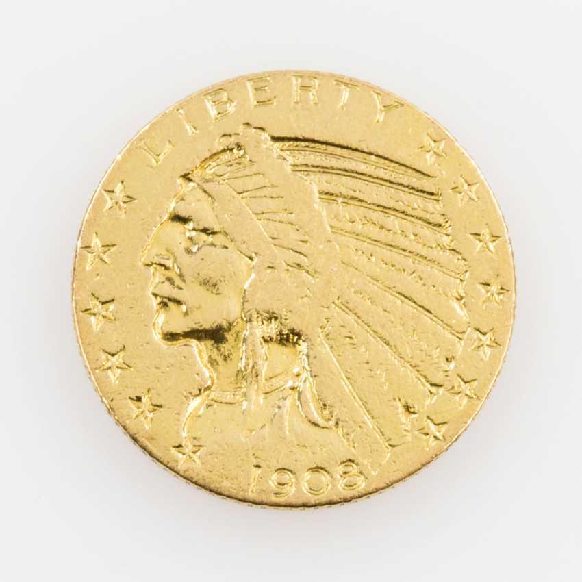 USA/GOLD - 5 Dollars 1908, Indian Head, - photo 1