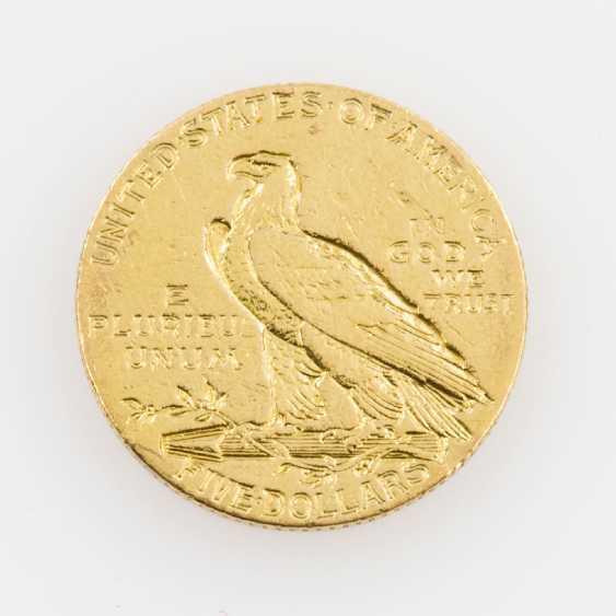 USA/GOLD - 5 Dollars 1908, Indian Head, - photo 2