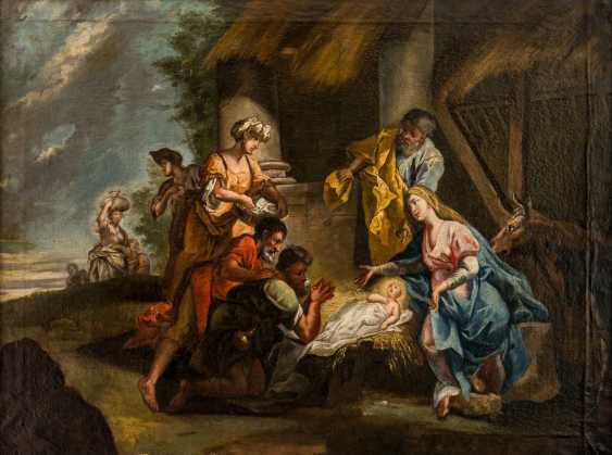 Very large painting of the adoration of the shepherds - photo 1