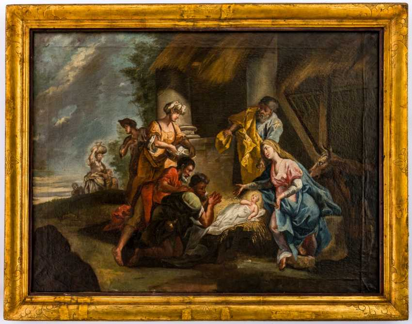 Very large painting of the adoration of the shepherds - photo 2