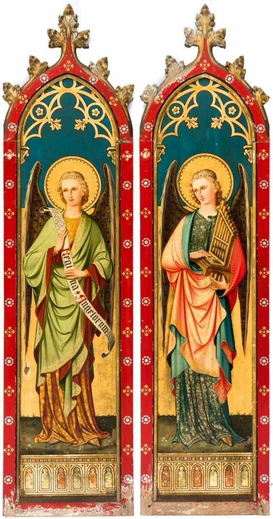 Two monumental panels with angels - photo 1