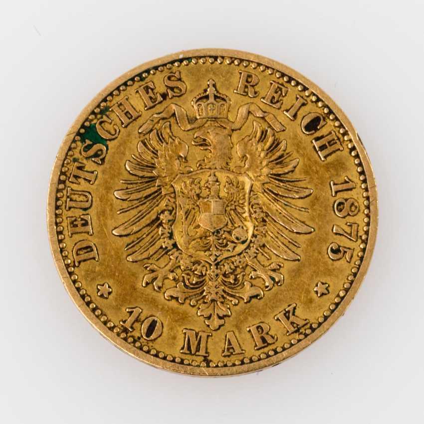 Preussen/GOLD - 10 Mark 1875 A, - photo 2
