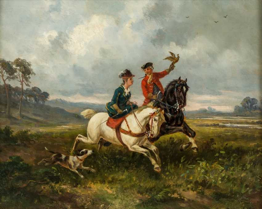 Falkner with Rider in side-saddle - photo 1