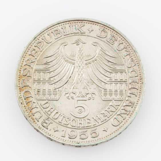 BRD 5 Deutsche Mark 1955 G, - photo 2