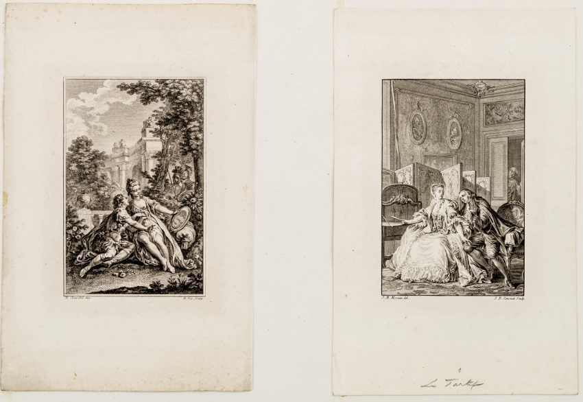 Two copper engravings of the marriage proposal - photo 1